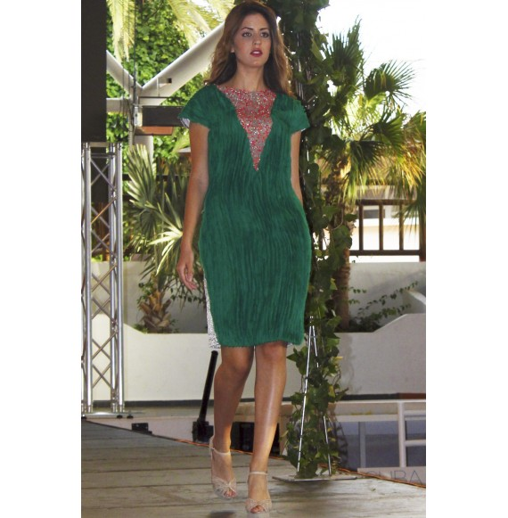 Vestidos verdes gasa